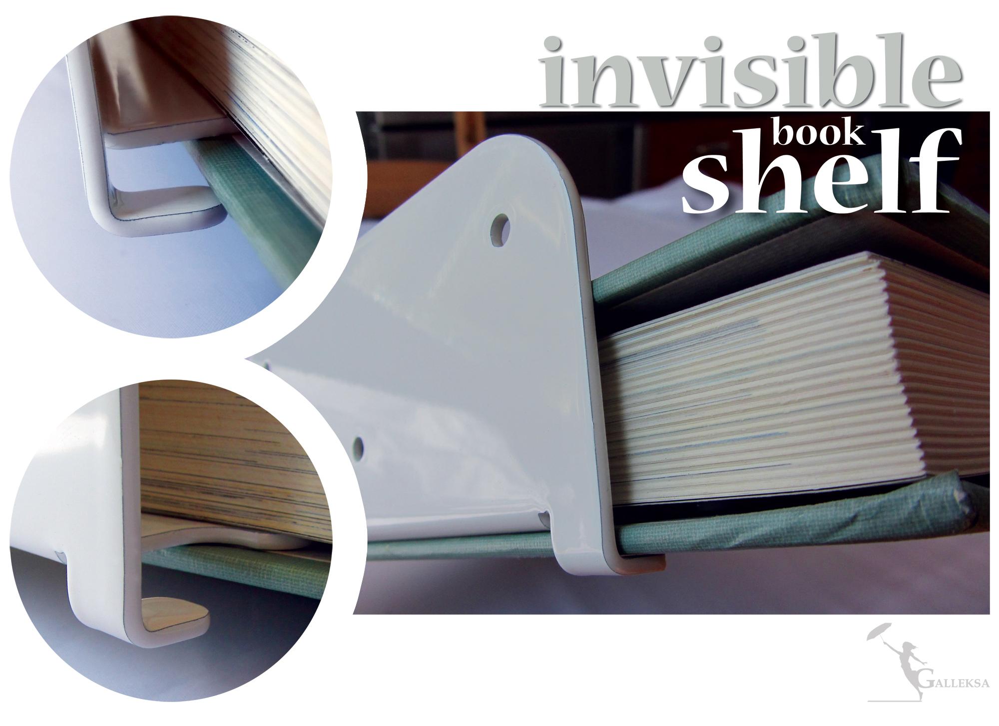 galleksa invisible bookshelf silver 2 pack galleksa invisible